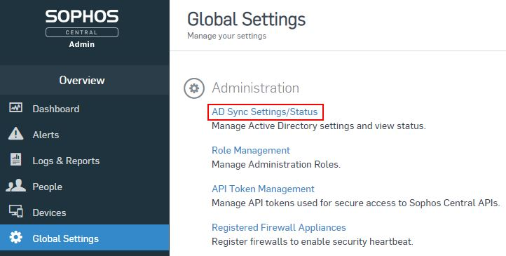 Sophos Central – How to Sync Active Directory Users and