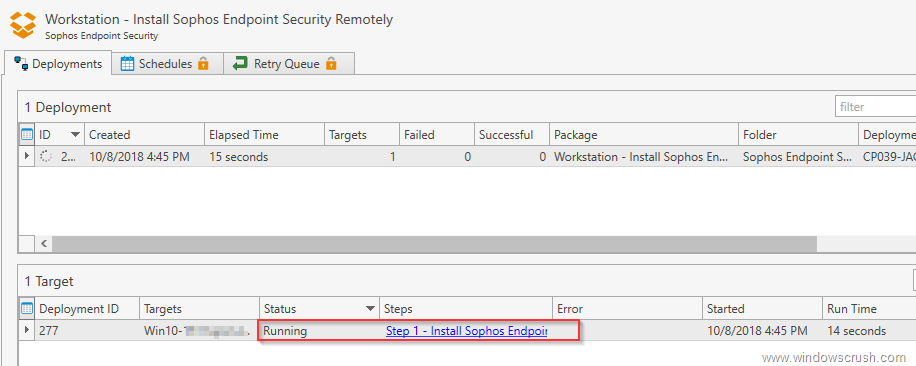 Remotely Deploy Sophos Endpoint Software to Windows