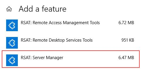 How to Install Remote Server Administration Tools for